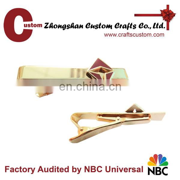 Wholesale Custom Shiny Gold Tie Bar,Tie Pin,Tie Clip