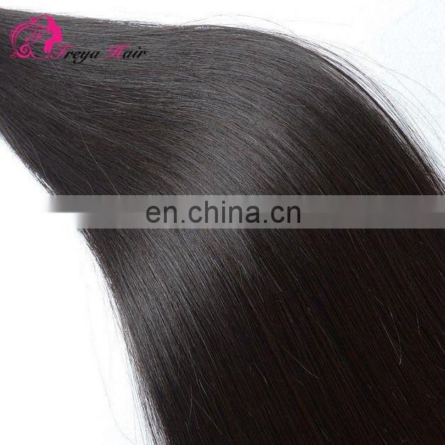 2017 Hot sale 100% human hair 8A indian virgin remystraight hair weft extension