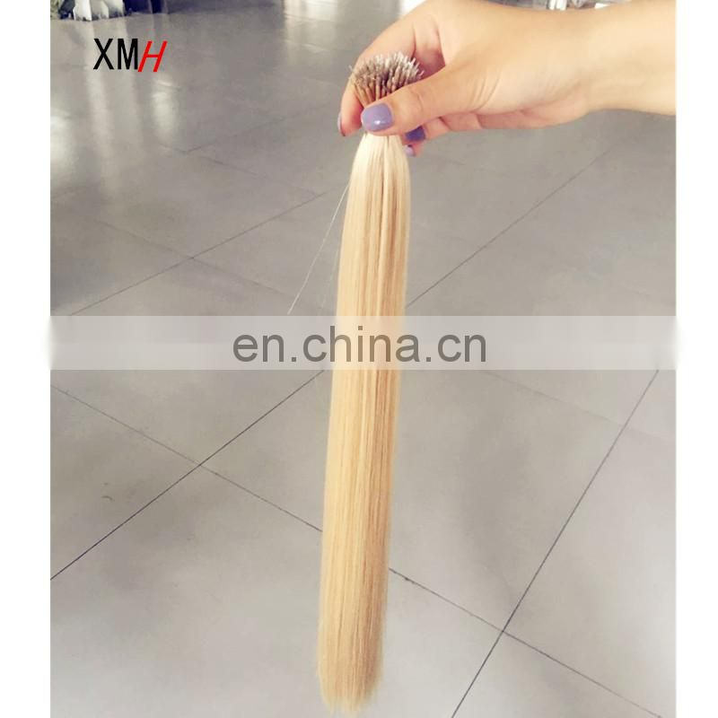Factory Double drawn Blonde Remy Human Nano Hair Extensions
