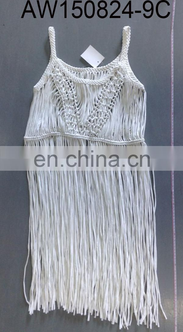 New fashion braided macrame motifs dress