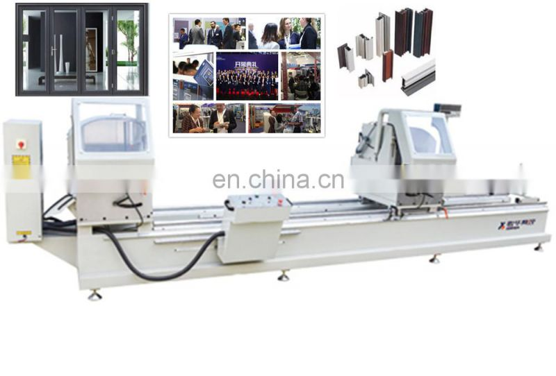 Double-head miter cutting saw for sale upvc v notch window machine mechanical cleaning