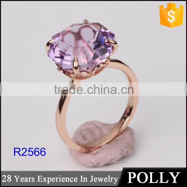 Latest dubai gold ring design for girls single stone finger ...