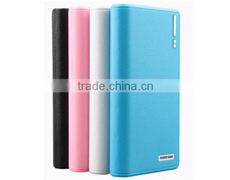New Items Product Dual Usb High Capacity Leather Wallet Power Bank Smart