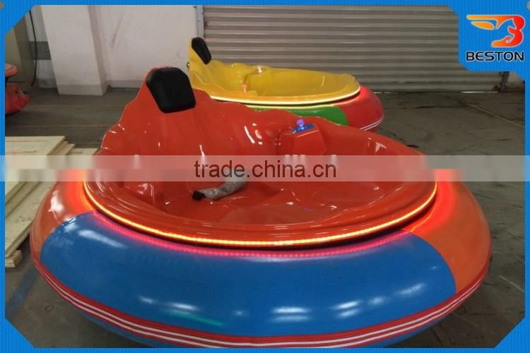 New design fiberglass indoor & outdoor kid bumper car,round electric inflatable bumper car for sale