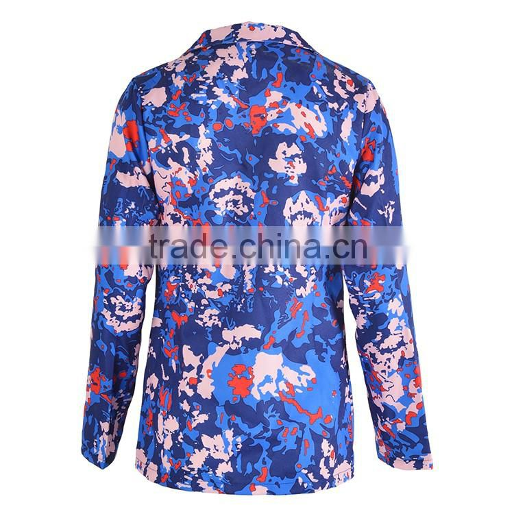Wholesale 2016 Autumn Fashion Women Long Sleeve Deep V Neck Mature Sexy Suits With Floral Print Shorts 2 Pieces Womens Jumpsuit