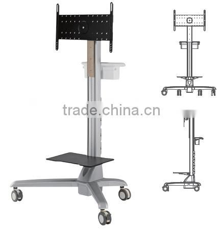Mobile TV Trolley Cart With Basket and Shelf NEW 2017