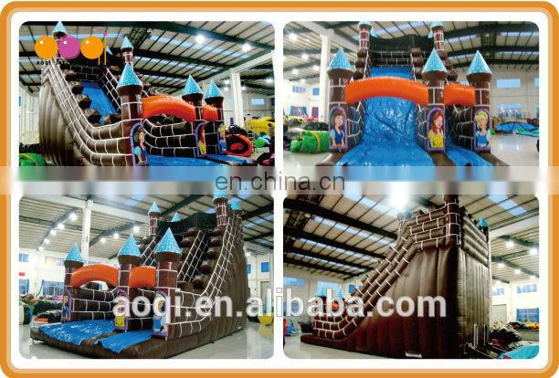 AOQI new inflatable attraction 2015 huge cheap used inflatable slide for kids