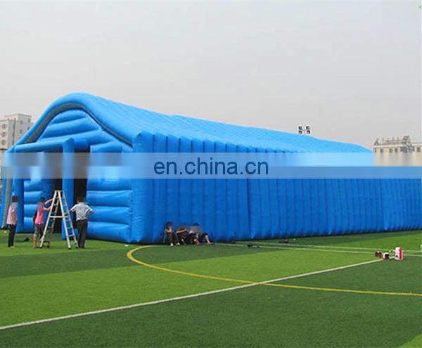 large long inflatable blue tent for exhibition party lawn event deocration