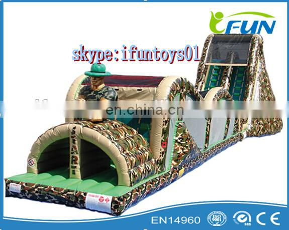 inflatable track obstacle course / inflatable obstacle course portable / obstacle track course inflatable game