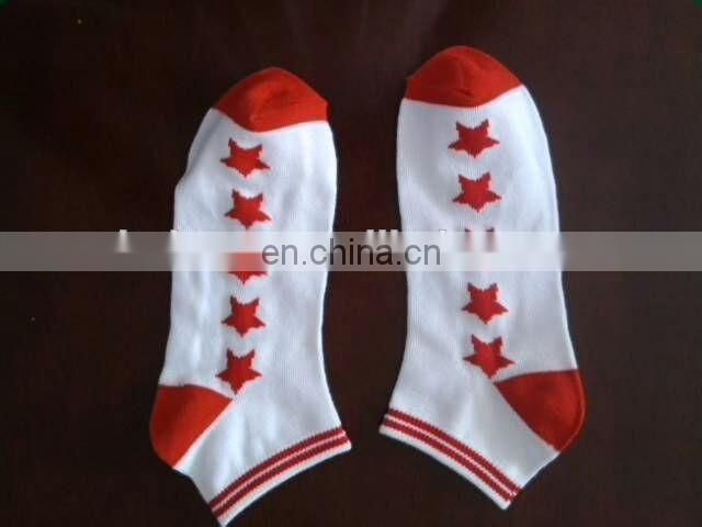 Flag Star Print Mens Design Cotton Socks