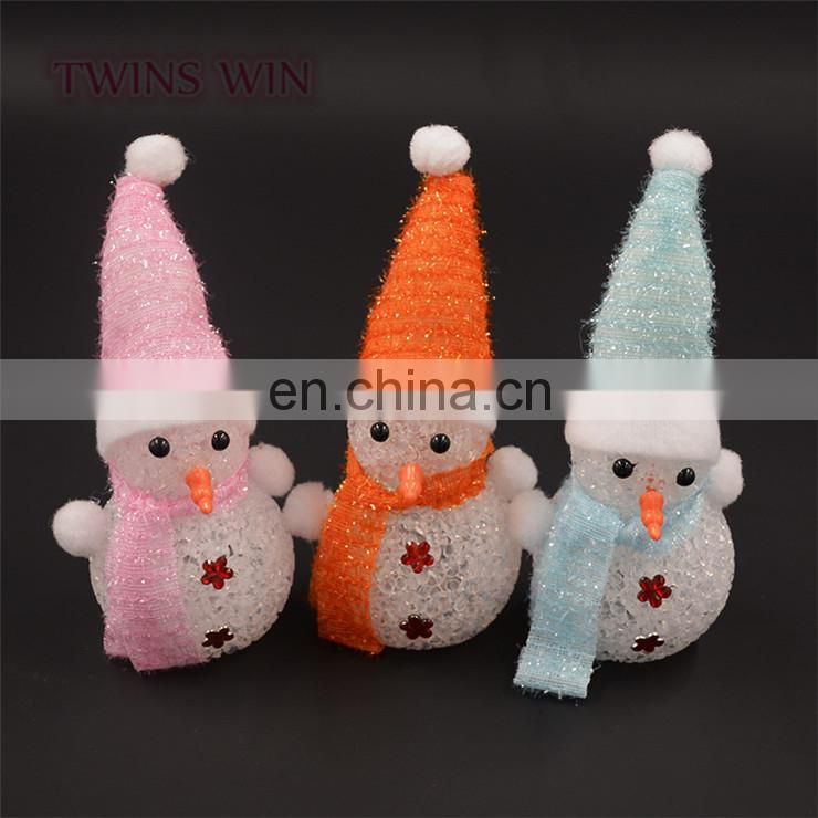 Guangdon factory offer Christmas decoration colorful Glowing snowman led decoration light wholesale night light