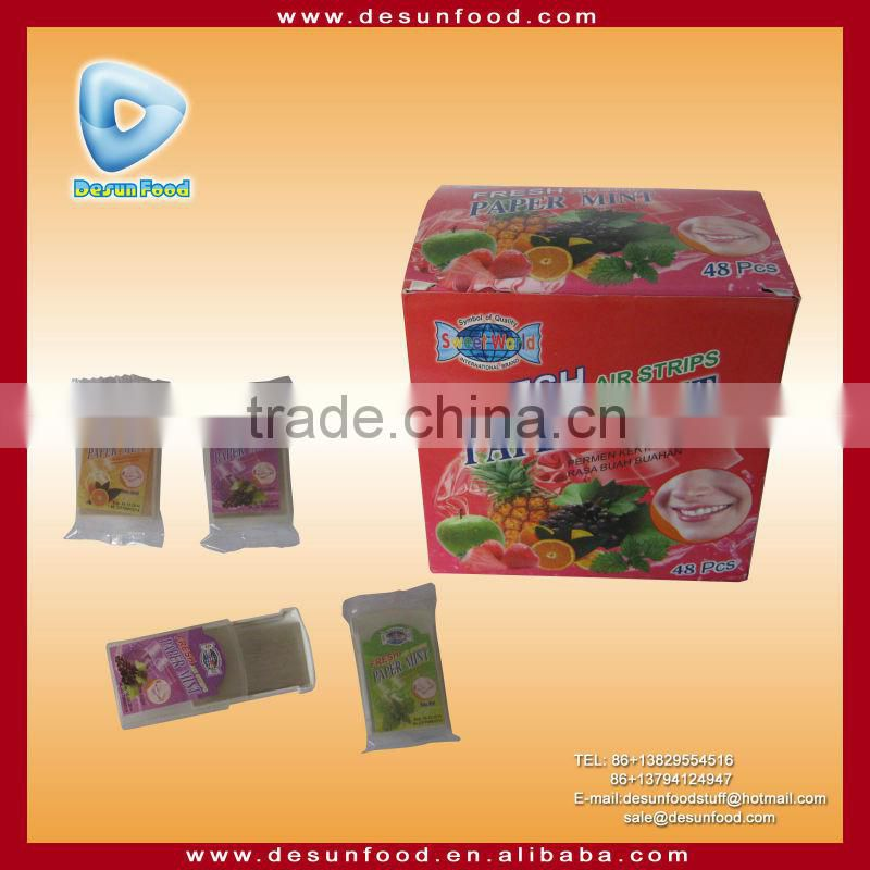 fresh breath paper mint strips candy of new products from china  specifications