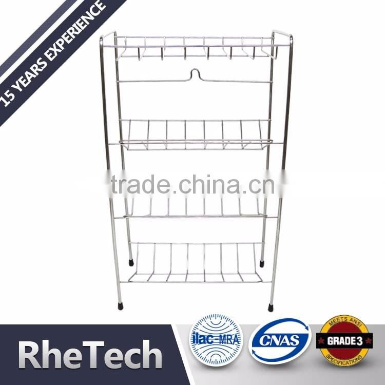 Metal Decorative Shower Caddy and Standing Corner Bathroom Towel Racks