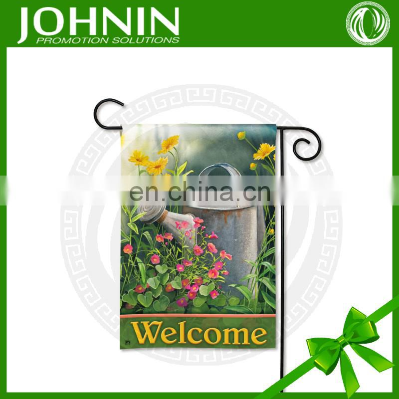 colorful double sides polyester garden flag