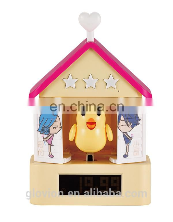 New design cute cartoon alarm clock kids digital alarm clocks bird alarm clock