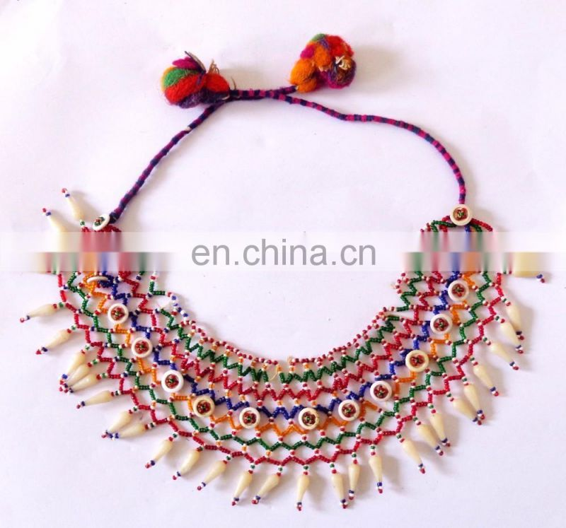 Afghani Vintage Handmade Necklace-Handmade Costume Necklace Set