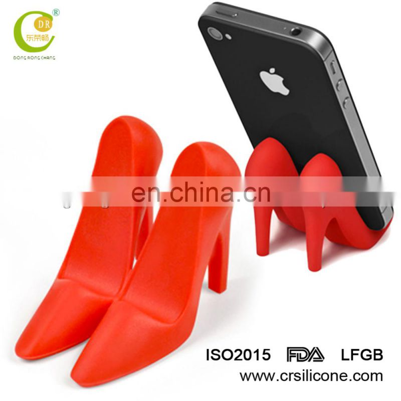 unique silicone mobile phone display stand