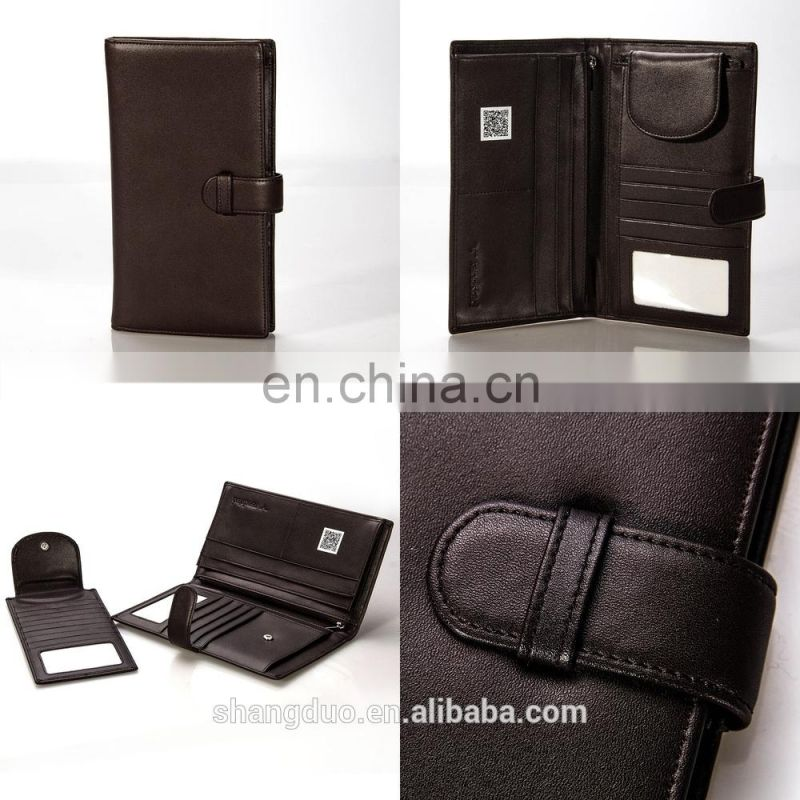 Excellect Handcraft Popular RFID Leather Passport Cover with Low Price