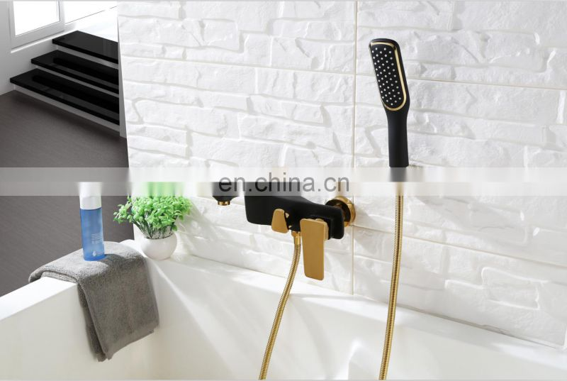 Luxury New product Wall mounted Bathtub hand held mixer shower faucet set with diverter