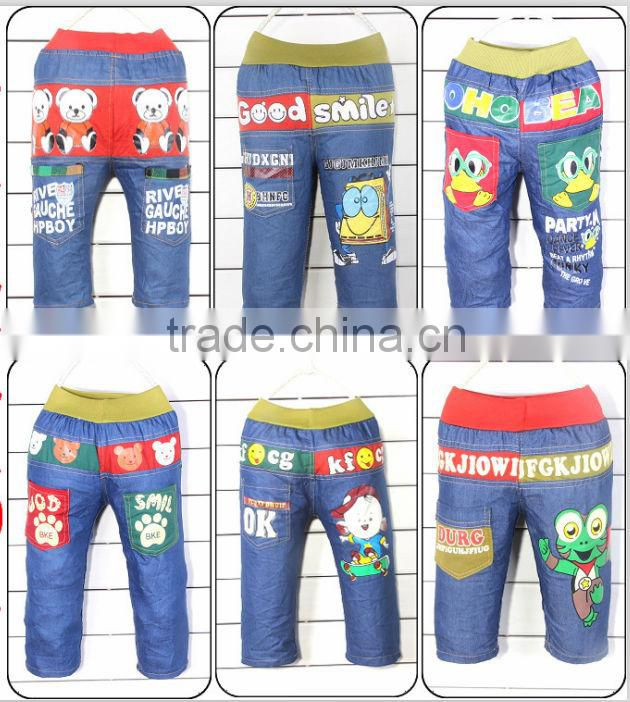 2013 Character Pattern Cheap Kids Jeans Trousers