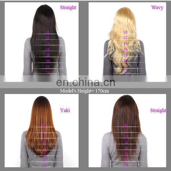 Double drawn soft silk straight european wavy hair blonde color 100% european hair
