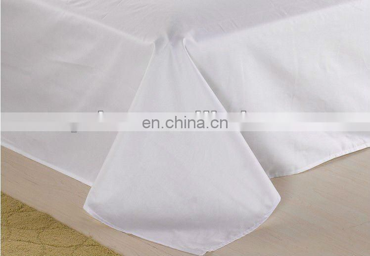 100% cotton white satin 60x40 300T bed sheet material