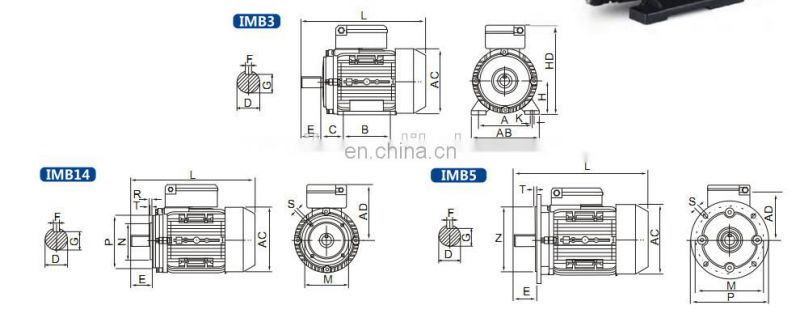 MY series electric motors 40w ac 115v ac fan motors