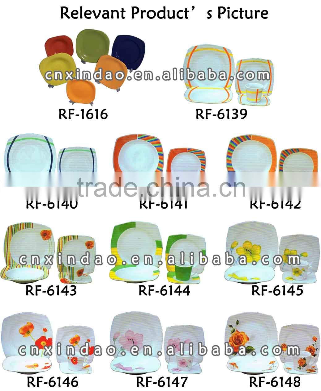 New 2015 Dinner Set with Sqaure Shape for Personalized Ceramic Dinnerware