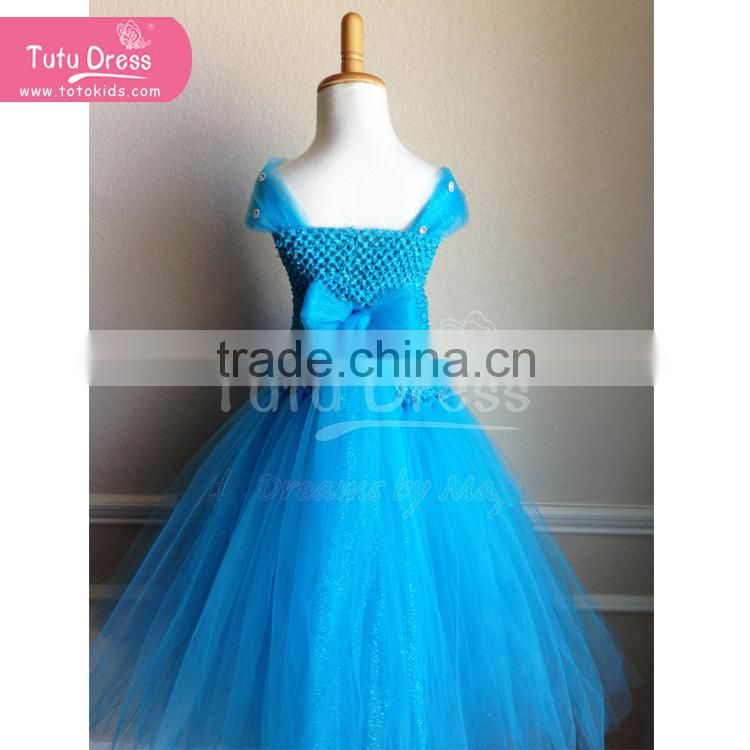 Cinderella Figural Ornament - Live Action Film kids blue dress for party/ dance/birthday