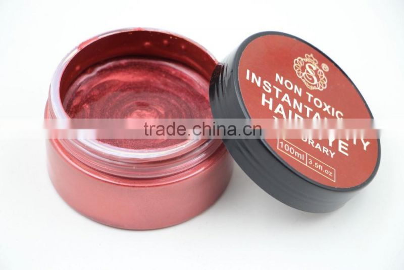 Professional hair color cream Temporary Non Allergic Hair Dye 100g/pcs