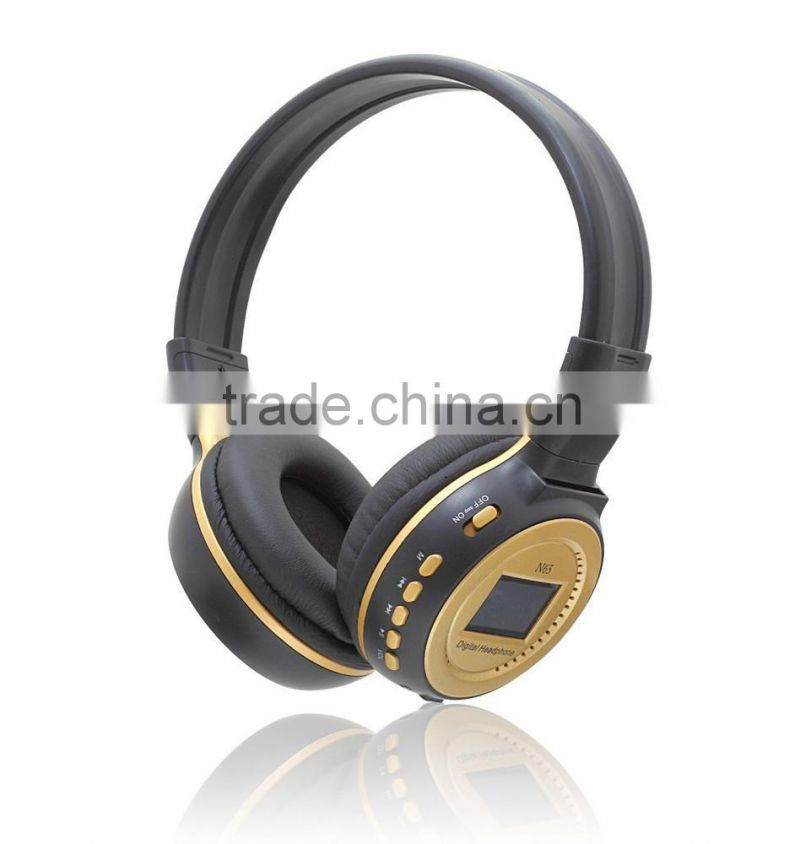 Big Sale MP3 Digital Wireless Headband Headphone FM SD Stereo Music Player SD Card Slot with LCD Display USB Cable