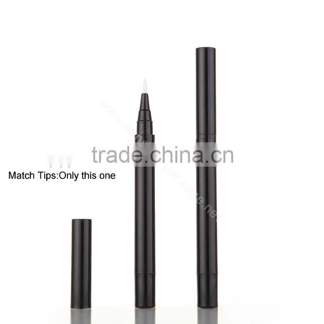 SZ234---0.5ml eyeliner tube plastic empty cosmetic pen/ cosmetic pen with metalizing and logo printing