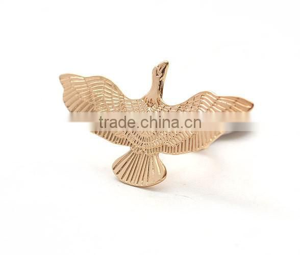 Fashion stone jewelry flying eagle rings