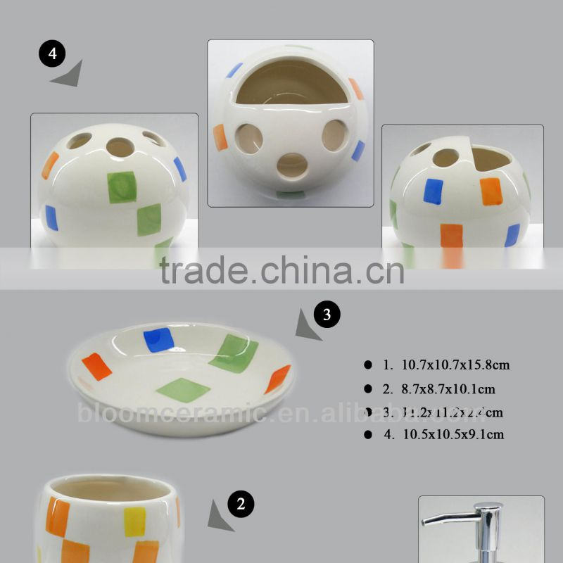 Ceramic white bathroom set