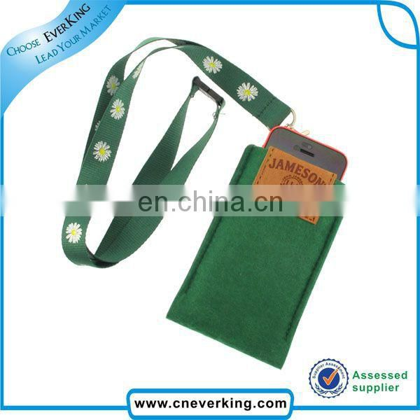 Fashion personal polyester felt mobile phone pouch