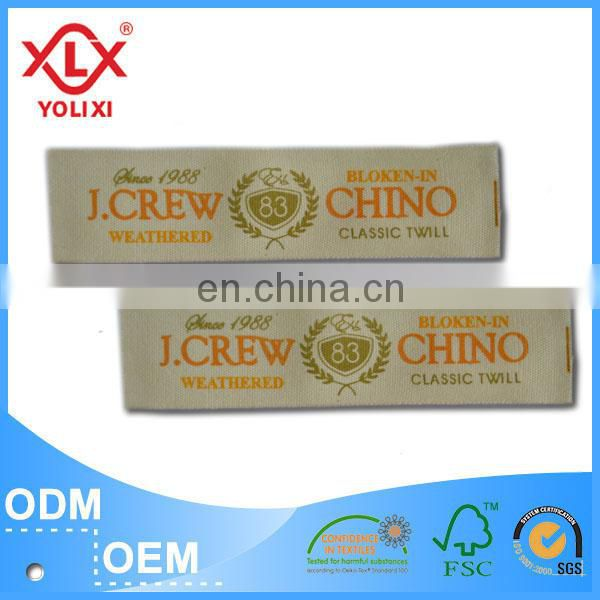 High quality printed labels for sock manufacturer in China