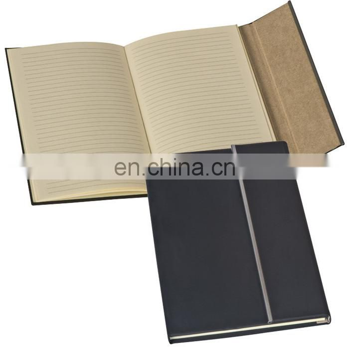 PU leather cover 70sheets diary notebook set with elasic tap and bookmark band NOTEBO908