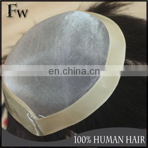 Tangle&shedding free top quality afro full lace human hair wigs for men
