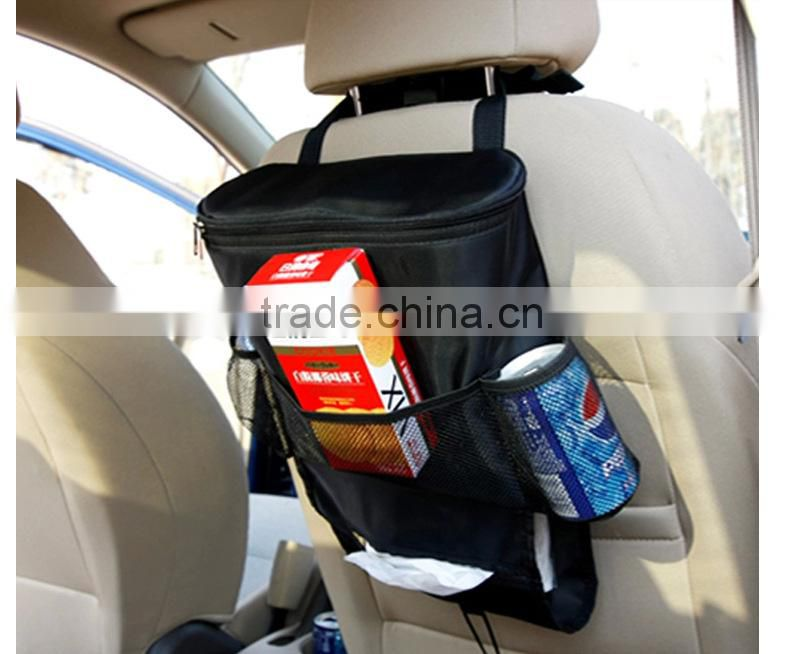 car back seat organizer with an ice cooler bag also four little bags storage for your stuffs Image