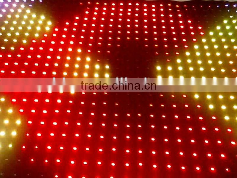 new inventions PC control DMX wholesale led lighted fabric curtains for bar/club/ stage decoration