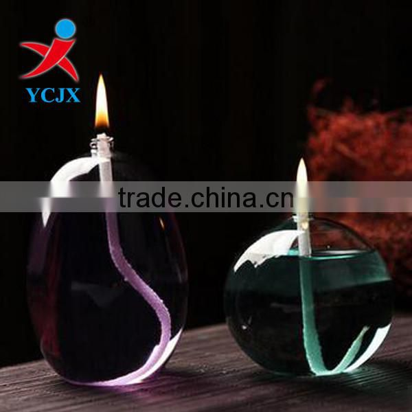 2016 POPULAR SALE CLEAR ROUND GLASS KEROSENE LAMPS
