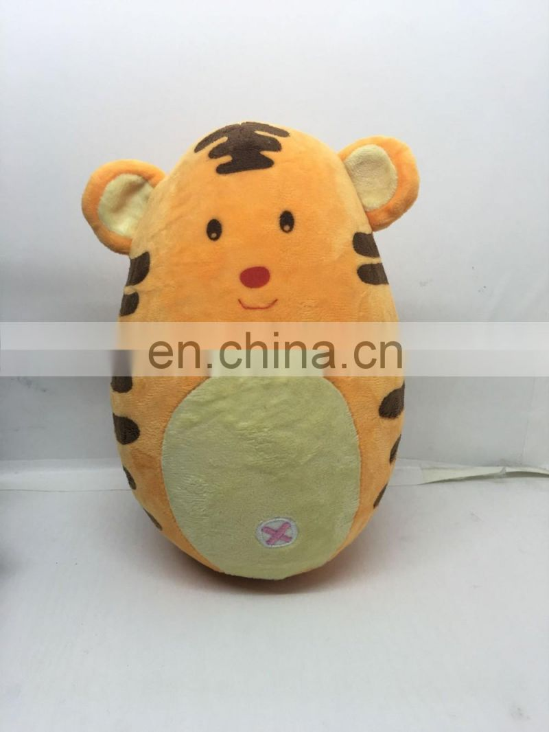 ASTM ,CE testing plush Roly-poly toy stuffed plush tumbler toys animail design