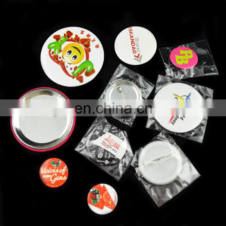 printed advertising tin badge buttons