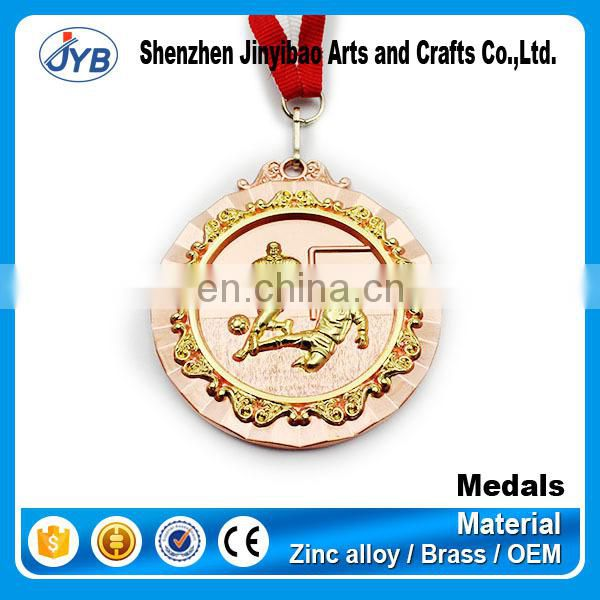 gold plated high quality custom martial arts metal medal