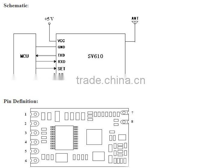NiceRF si4432 100mW wireless embedded rf transceiver module 433MHz