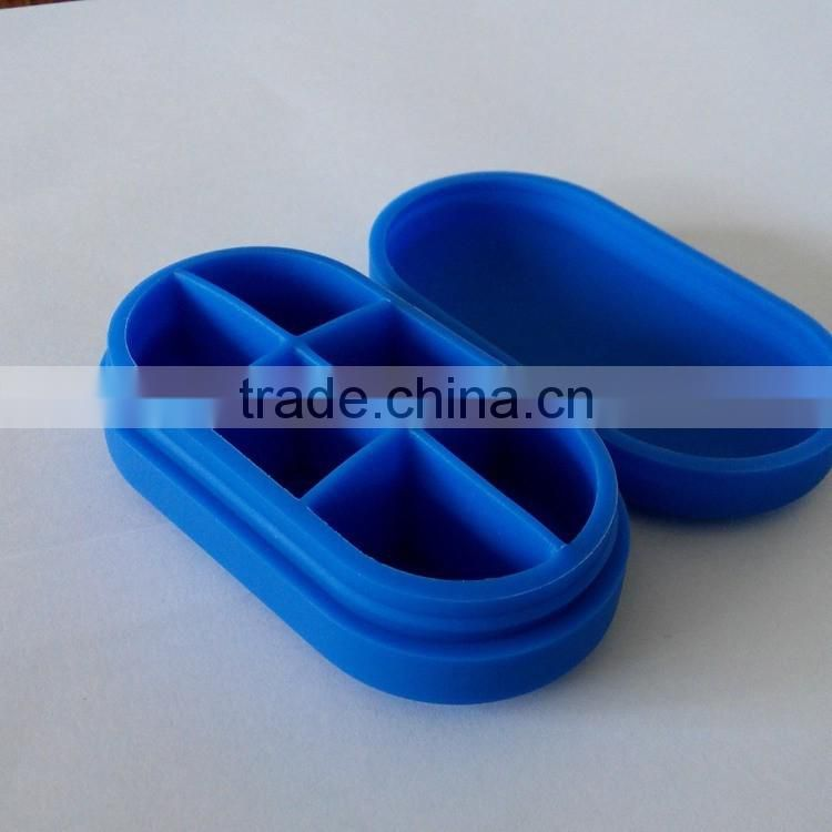 Best-selling low price silicone medical pill case/necessary case for storing pill
