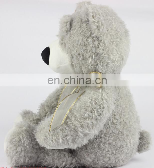 Best made fat plush teddy bear skins toys wholesale/custom teddy bear with tie