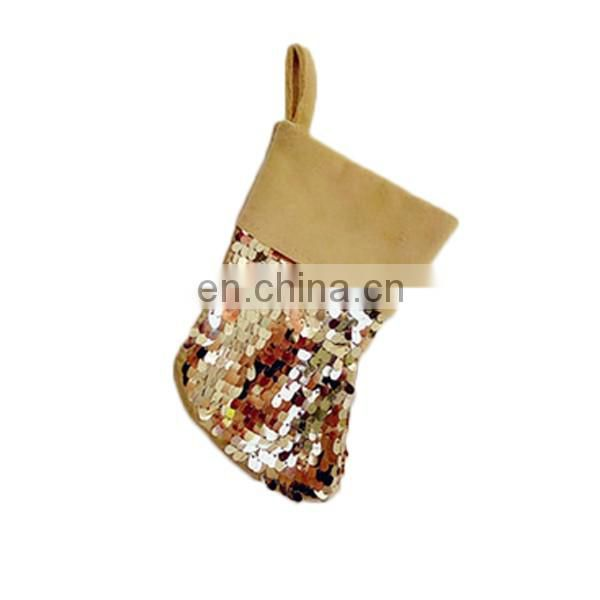 christmas decoration ornaments gold sequin ableware cultery christmas stocking