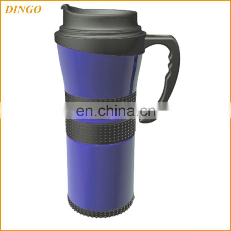 Travel Mug/ Tumbler - 16 Oz. Double Wall Stainless Steel / Rubberized Grip