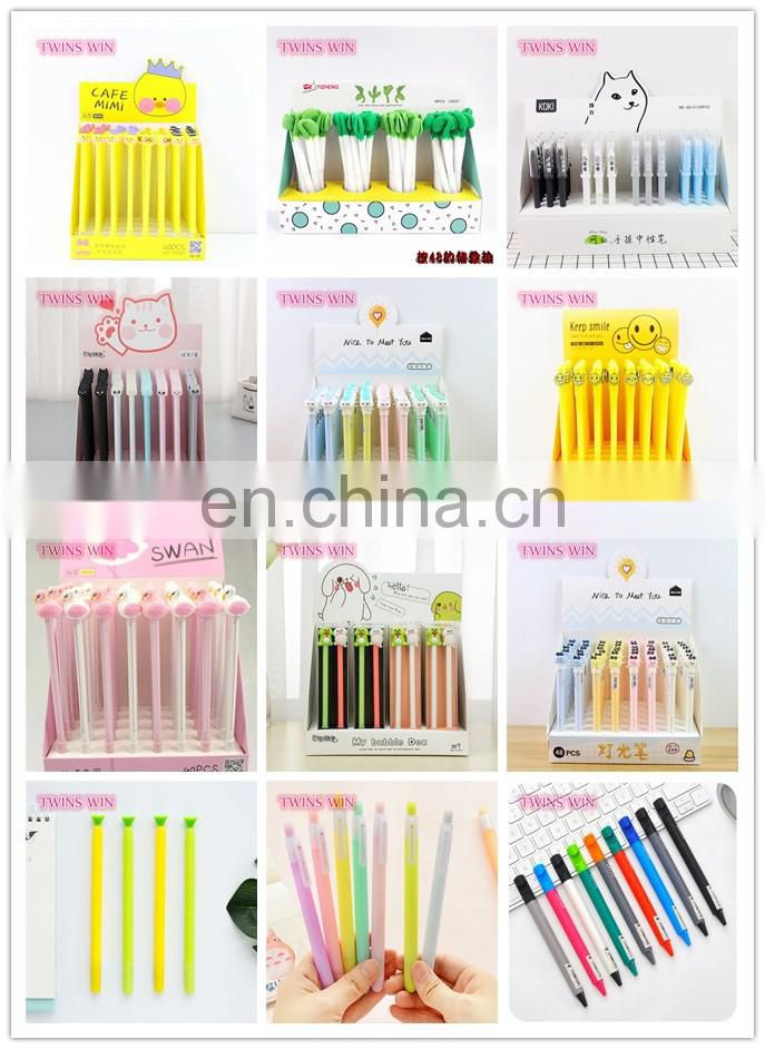 Promotional Gift 2018 newest school stationery product Personalized Custom Logo Printed animal shaped gel pens set wholesale